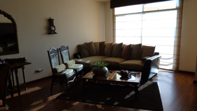 Apartamento amueblado en renta zona 13 Nivel Alto