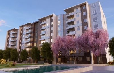 Alquilo apartamento en Club Residencial Parque 7 con linea blanca.Q4300.00 incluye mantenimiento