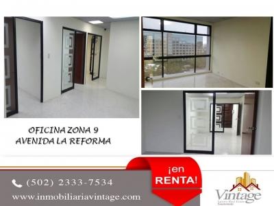 Oficina excelente ubicacion zona 9 Av. Reforma