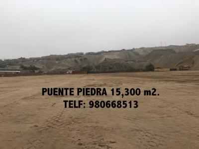 SE VENDE TERRENO INDUSTRIAL 15,300 M2 - PUENTE PIEDRA