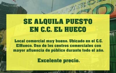 Locales Comerciales en Alquiler en Centro Comercial El Hueco
