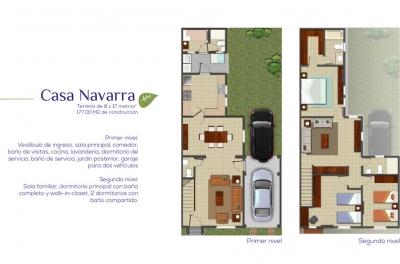 Preciosa y cómoda casa venta:  3 habitaciones, 2 parqueos, 2 salas