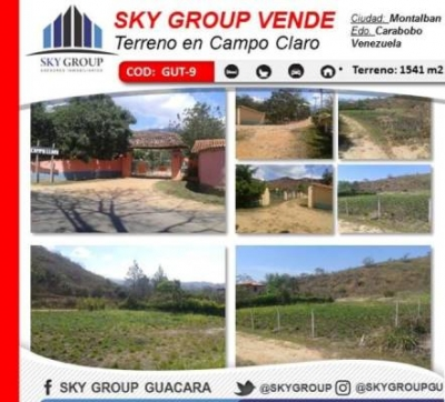 SKY GROUP VENDE TERRENO EN MONTALBÁN-CARABOBO