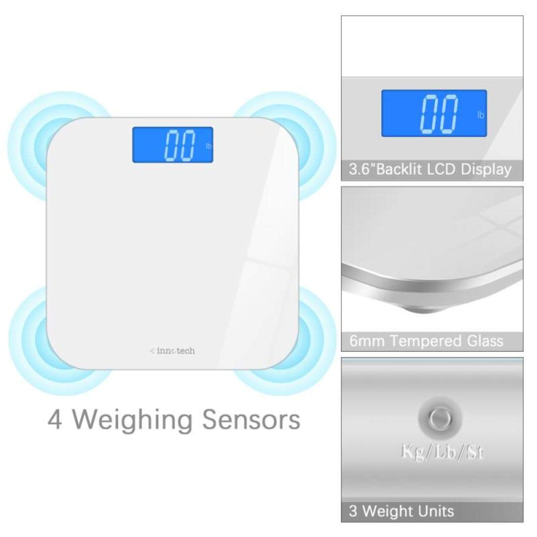 Innotech Digital Bathroom Scale ID-767 White