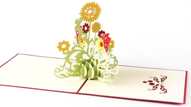 3D Any Occasion Card - Butterflies And Flowers