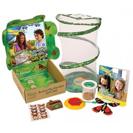 Butterfly Garden GIFT SET with 3-5 LIVE Caterpillars