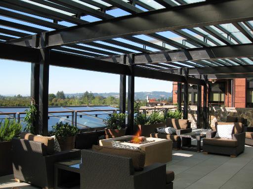 Allison Inn and Spa patio