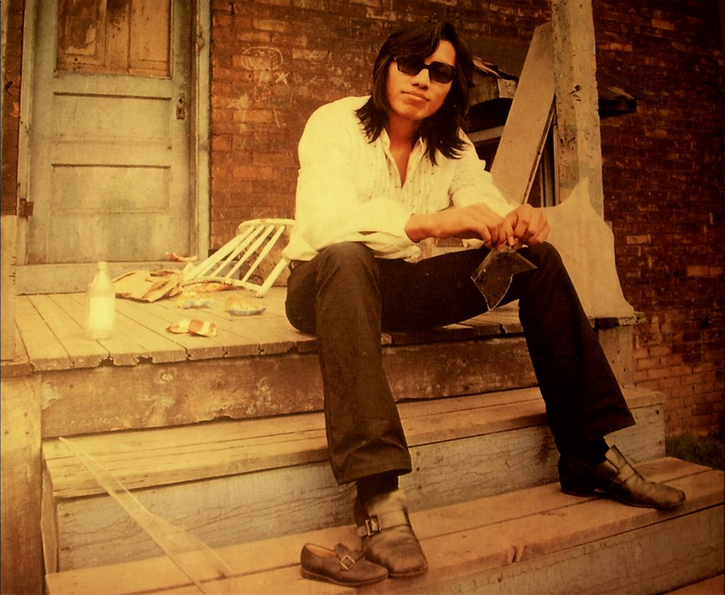 Detroit singer Sixto Rodriguez appears on the cover of his second album, Coming From Reality (1971)
