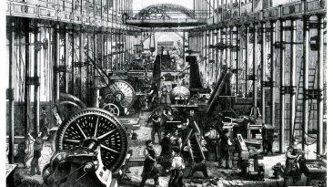 Sächsische Maschinenfabrik in Chemnitz, Germany, 1868