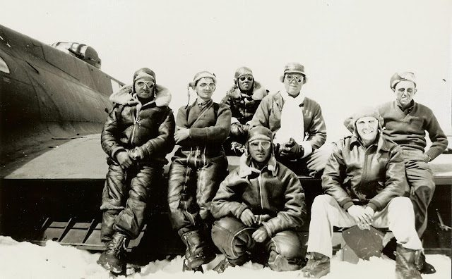 Seven of the squadron's twenty-five lost pilots on the Greenland Glacier.