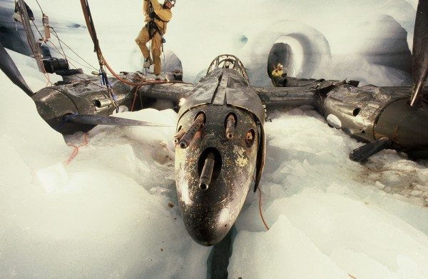 Glacier girl under the ice