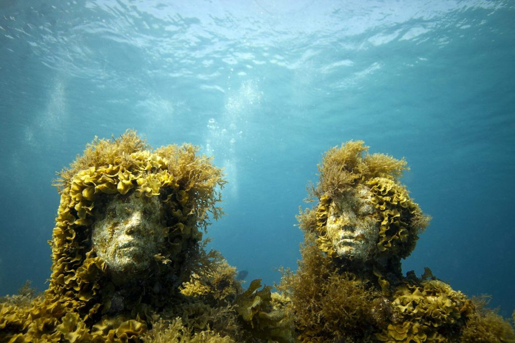 The Silent Evolution. Depth 8m, MUSA Collection, Cancun/Isla Mujeres, Mexico. Photo: Jason Decaires Taylor