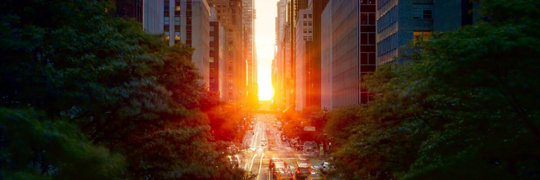Manhattanhenge. Source Wikipedia