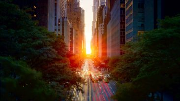 Manhattanhenge. Source Wikipedia