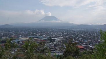 Goma, Congo in the shadows of Mt. Nyiragong
