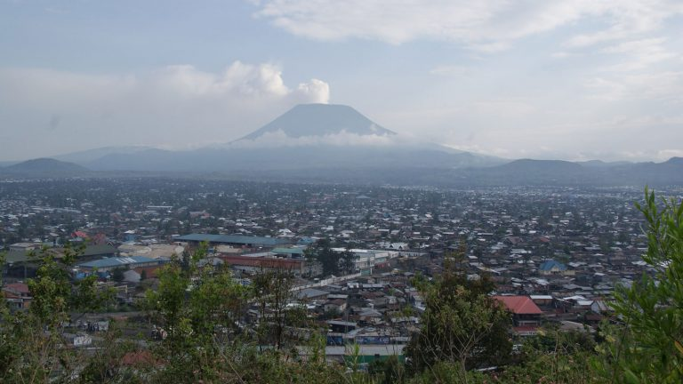 Goma, Congo in the shadows of Mt. Nyiragong