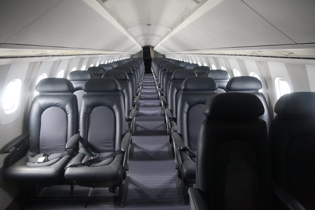 The cabin of Concorde by Daniel Schwen / Wikimedia Commons, CC BY-SA 3.0,