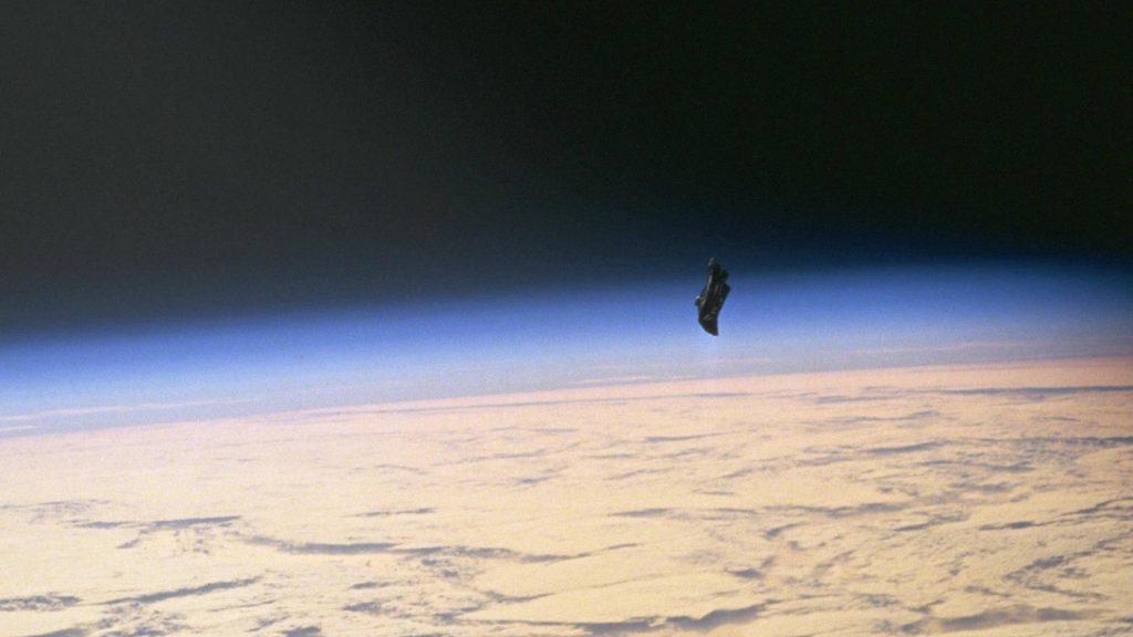 "NASA image showing an item of ""space debris"""