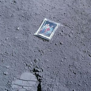 Apollo 16 astronaut Charles Duke's family photo left behind on the moon