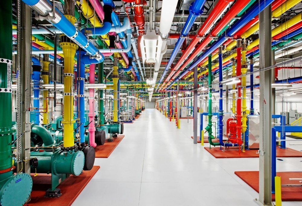 A data center cooling plant in Google's Douglas County, Georgia. Source: Google/Connie Zhou