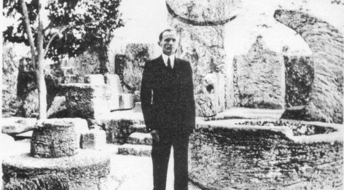 The 100lb man behind Coral Castle's creation, Edward Leedskalnin.
