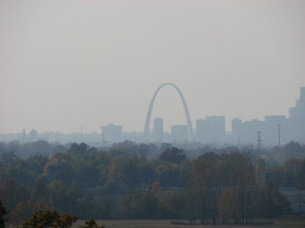 St. Louis from Monks Mound
