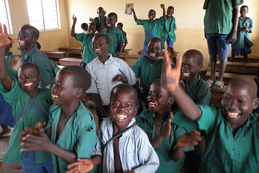 Happy african kids