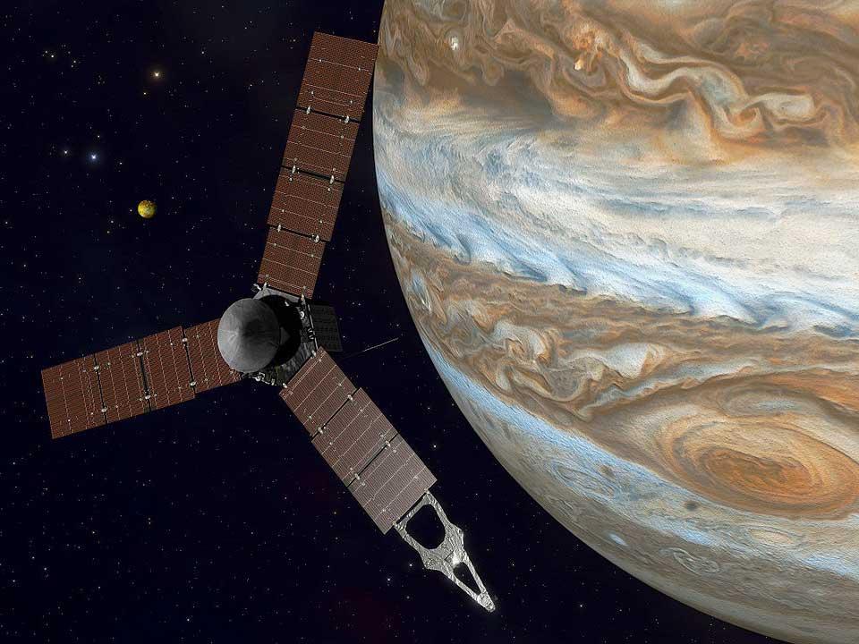 Juno spacecraft at Jupiter