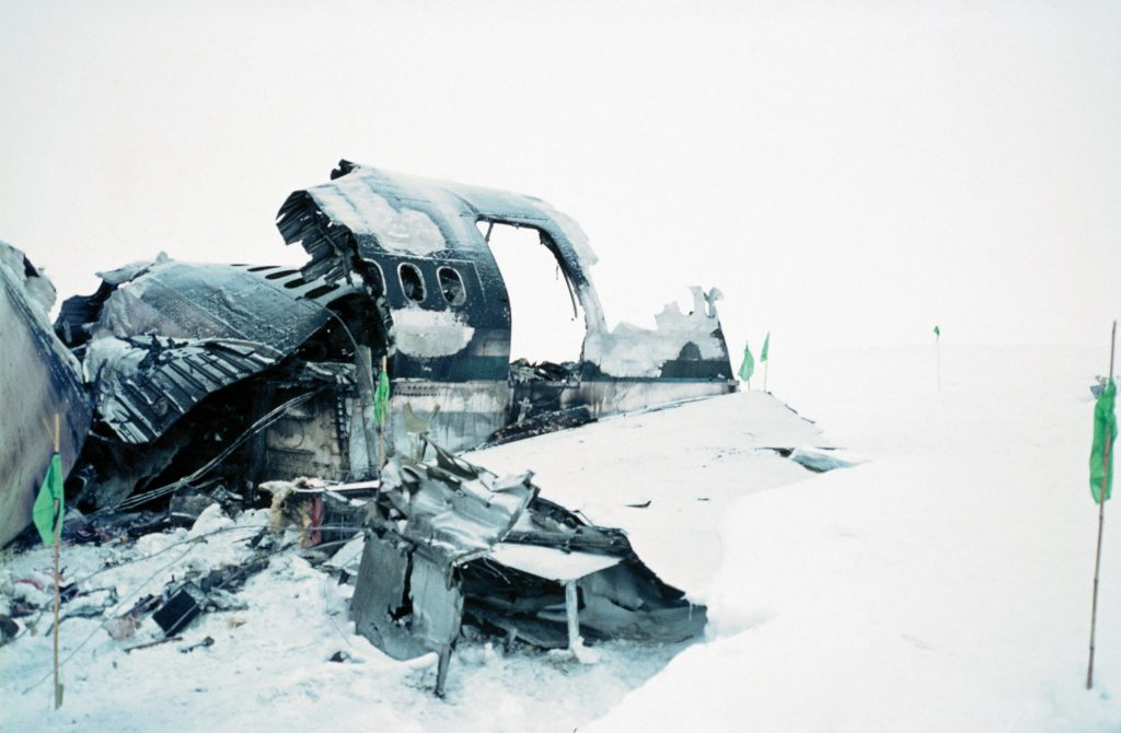 Wreckage of Flight 901