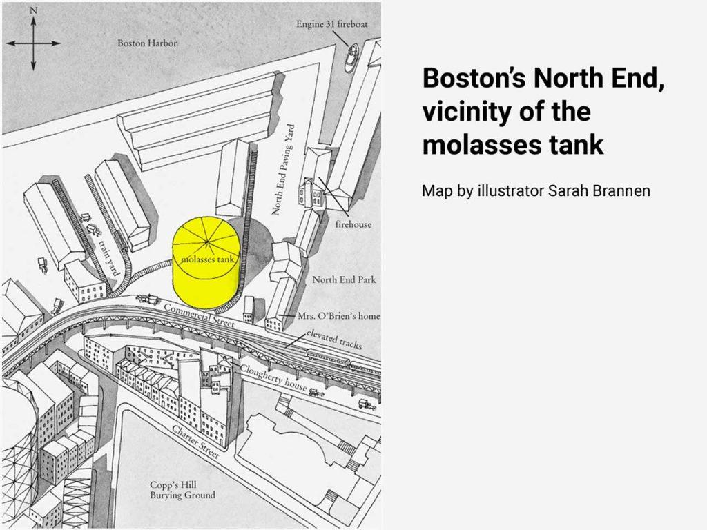 Boston molasses flood map