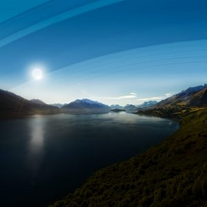 New Zealand's rings would be low on the horizon. Southern New Zealand sits between 41-46 degrees south. The country would be in the shadow of the sun much of the year.