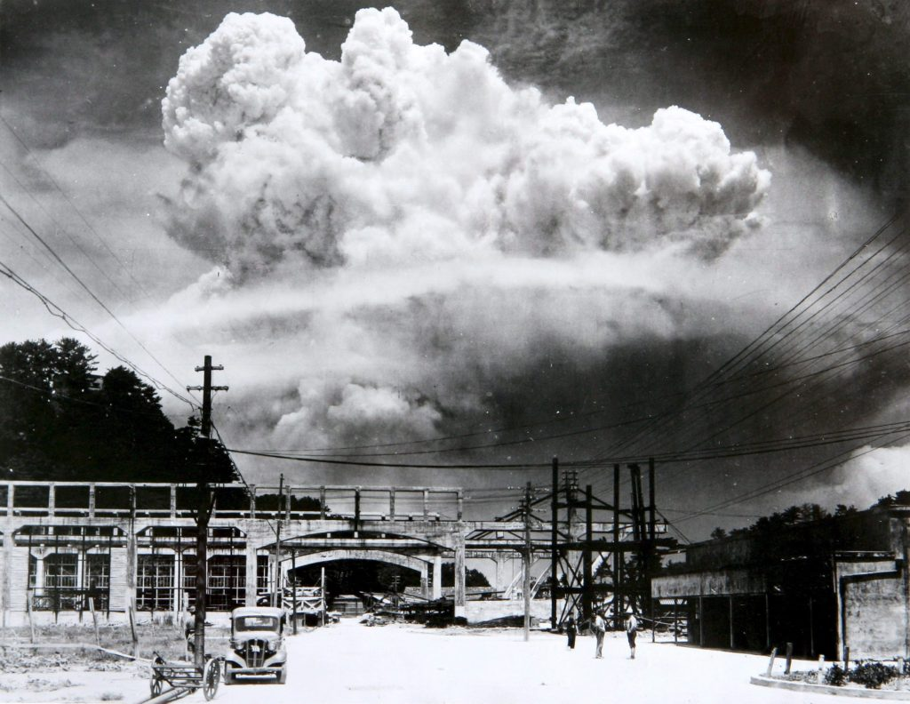 Atomic cloud over Hiroshima