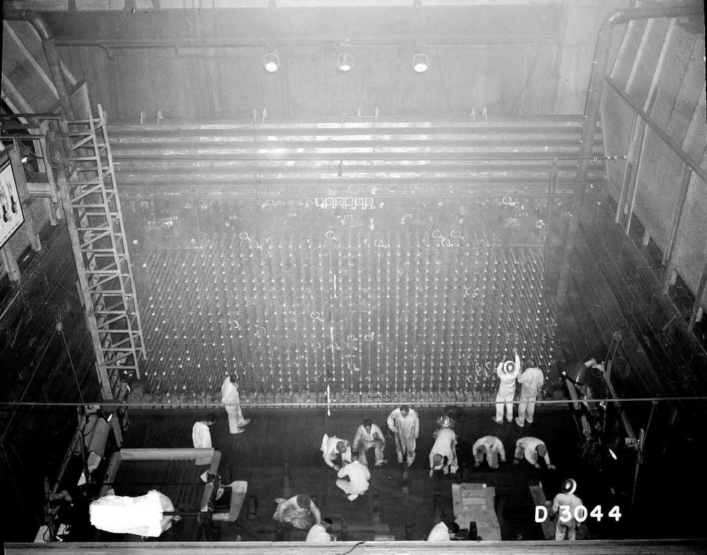 The B Reactor during construction