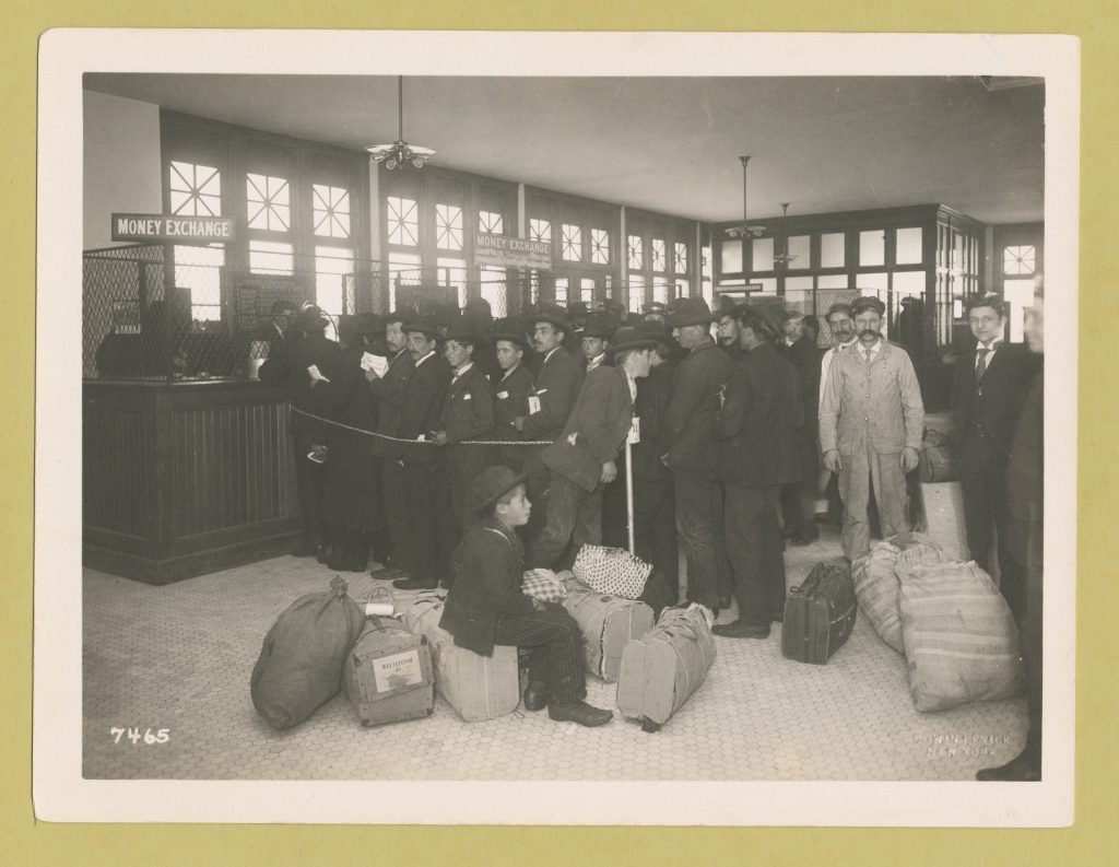 700 immigrants arrived via three large boats and were processed on Ellis Island's first day in operations.