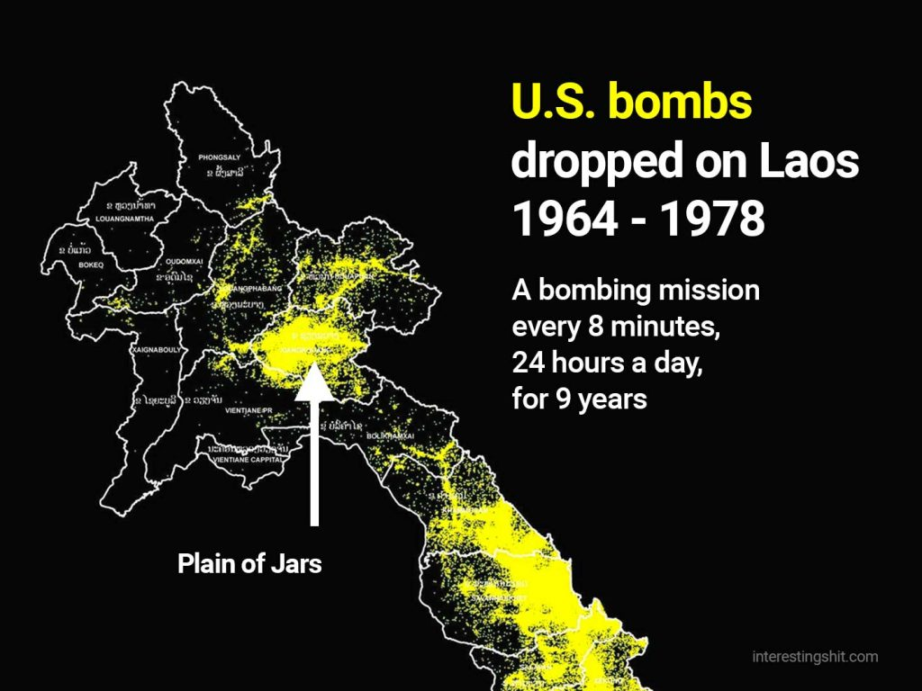 bombing of Laos by USA