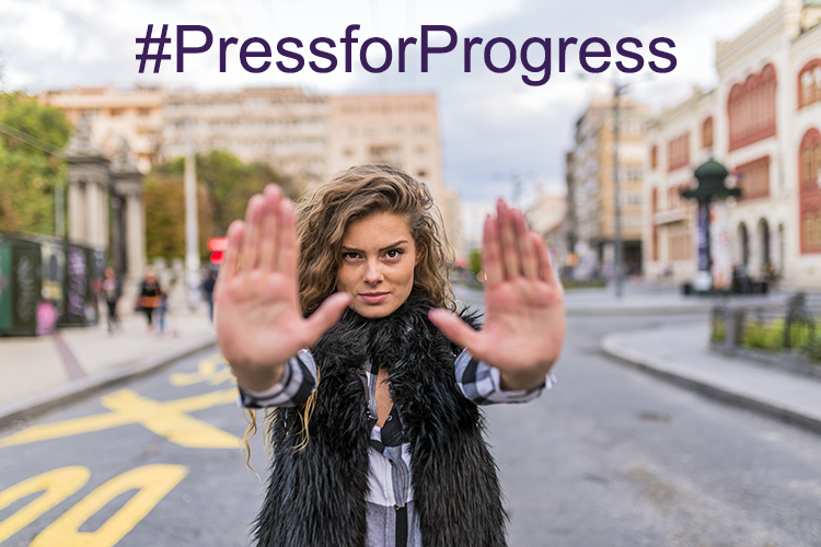 IWD Press for Progress Theme