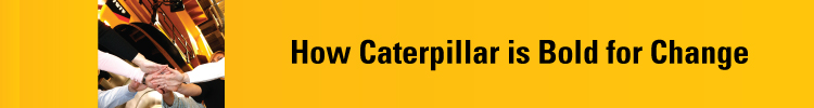 How Caterpillar is Bold For Change