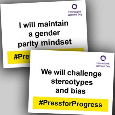 PressforProgress selfie cards