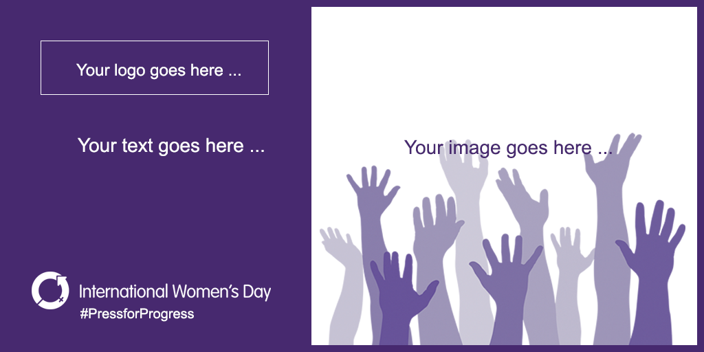International Women's Day social media card download