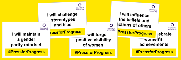 #PressforProgress selfie cards