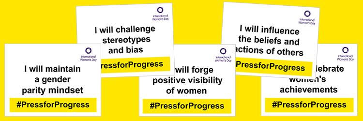 #PressforProgress selfie cards