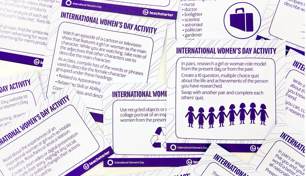 643783c4415db International Women's Day Teach Starter resources