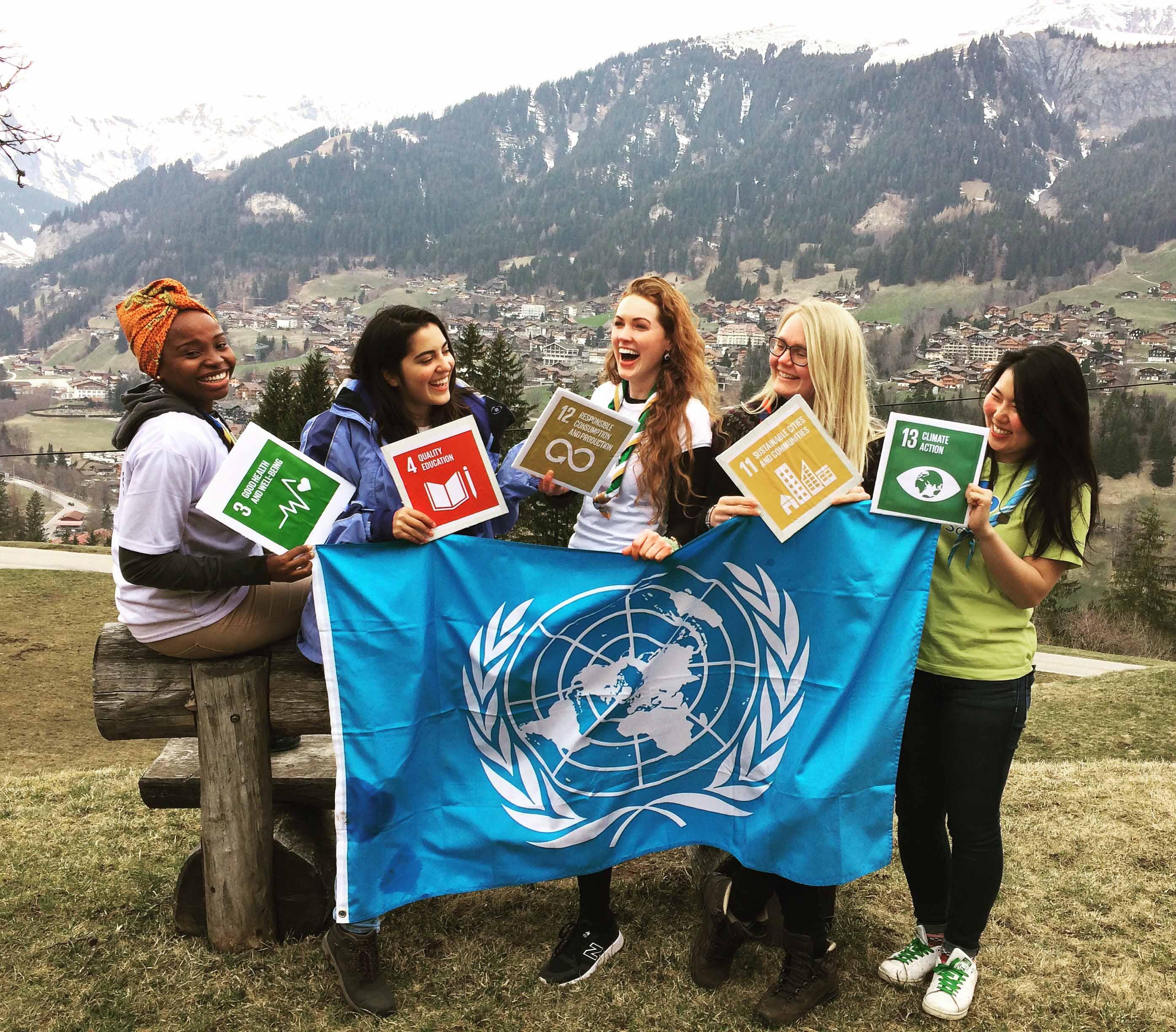 WAGGGS #PressforProgress
