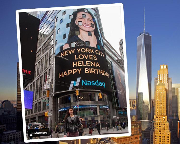 internationalwomensday Durst IWD Times Square - Helena Durst