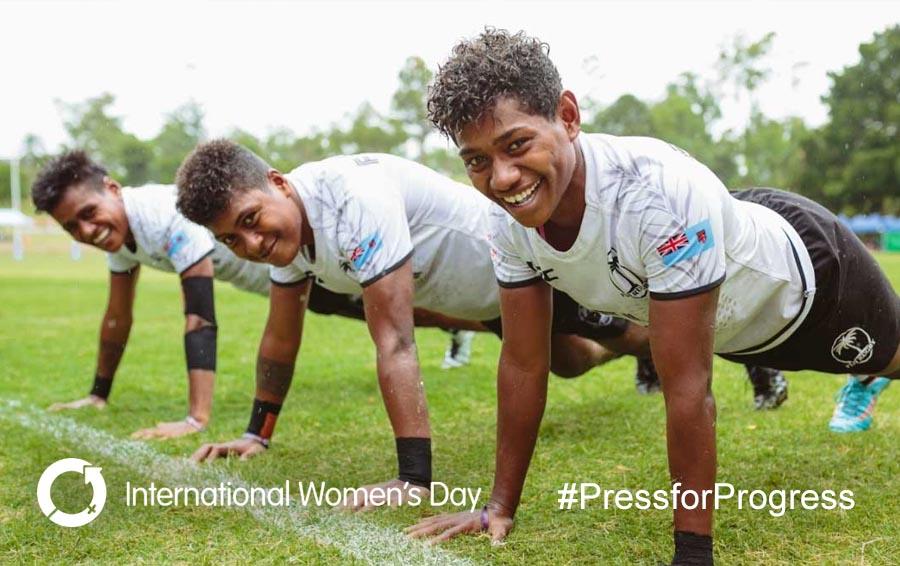 Fji 7 Women rugby IWD pressforprogress