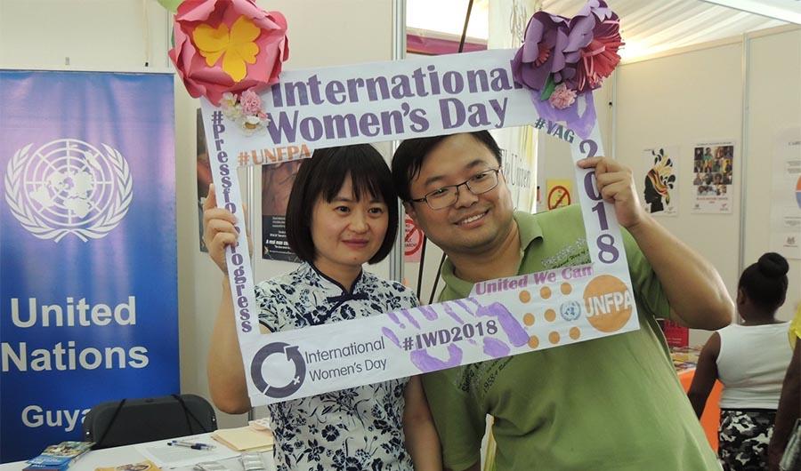 International Women's Day booths