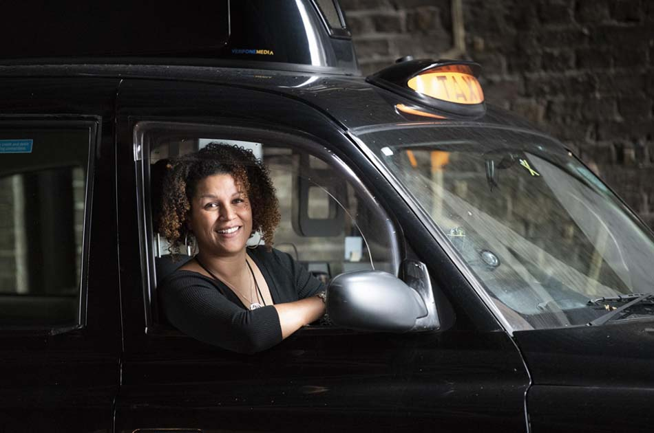 London black taxi women drivers
