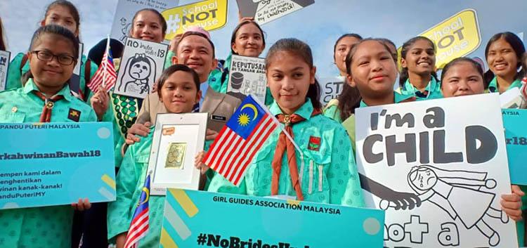 Malaysia WAGGGS campaigning
