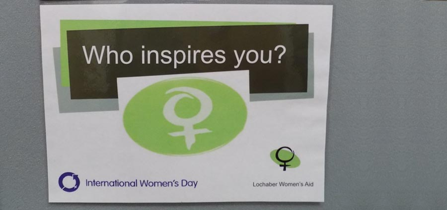 Women's IWD library display