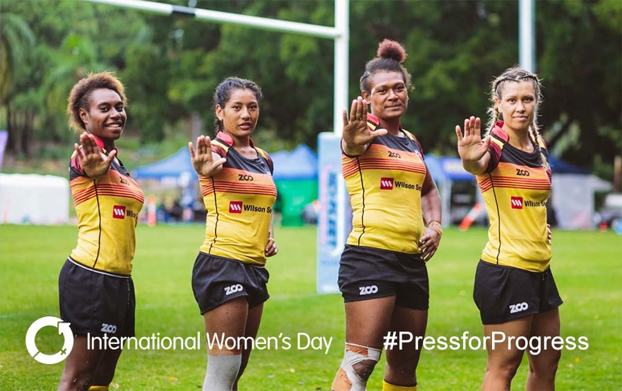 Womensrugby IWD pressforprogress